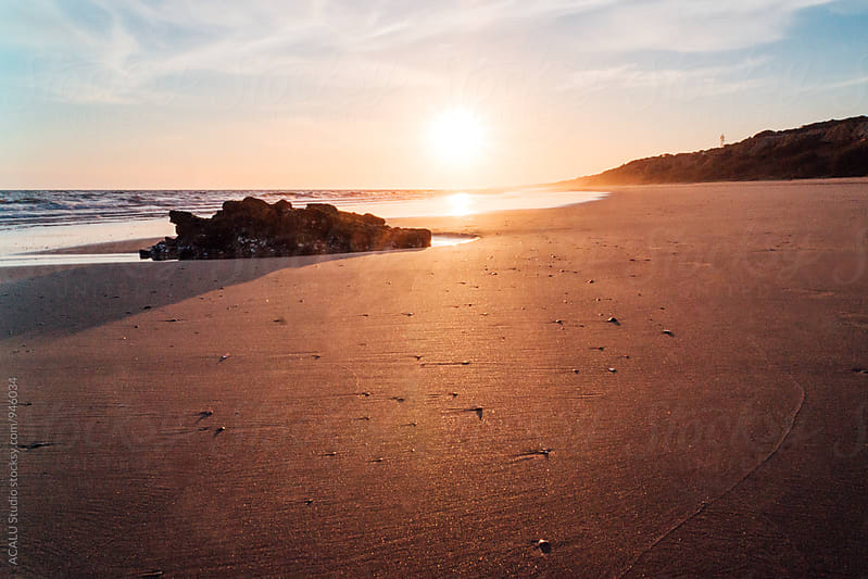 Sunset at the beach by ACALU Studio for Stocksy United