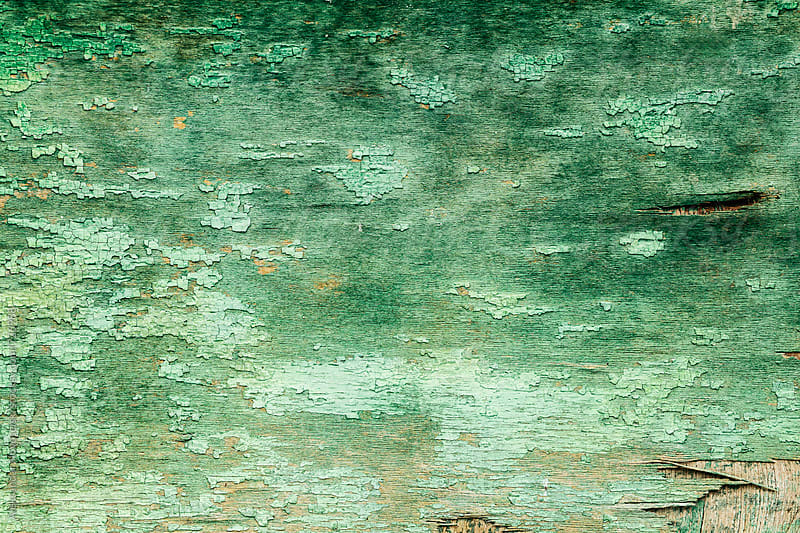 Old green wooden texture by Aleksandar Novoselski for Stocksy United