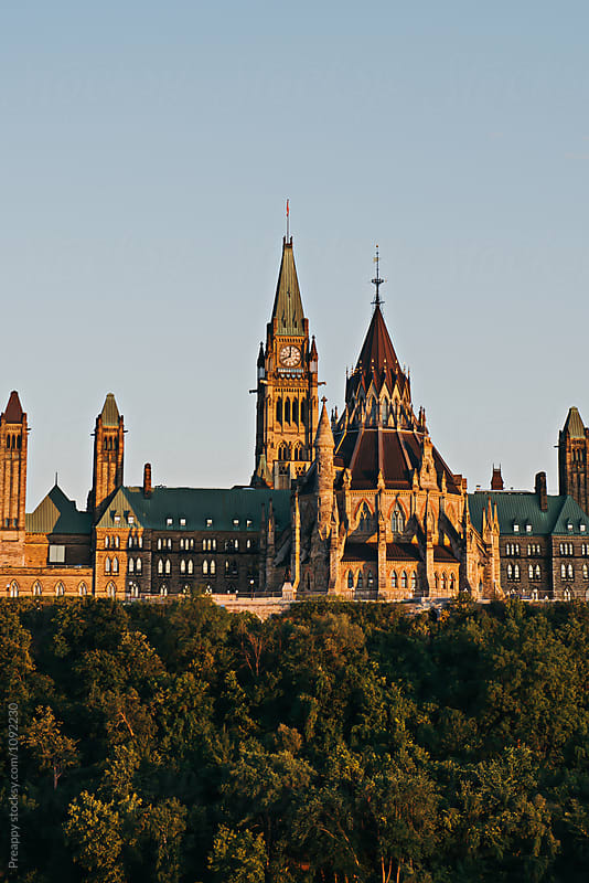 Parliament Building of Canada by Preappy for Stocksy United
