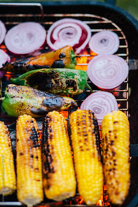 Summer grilling out vegetables by Borislav Zhuykov for Stocksy United