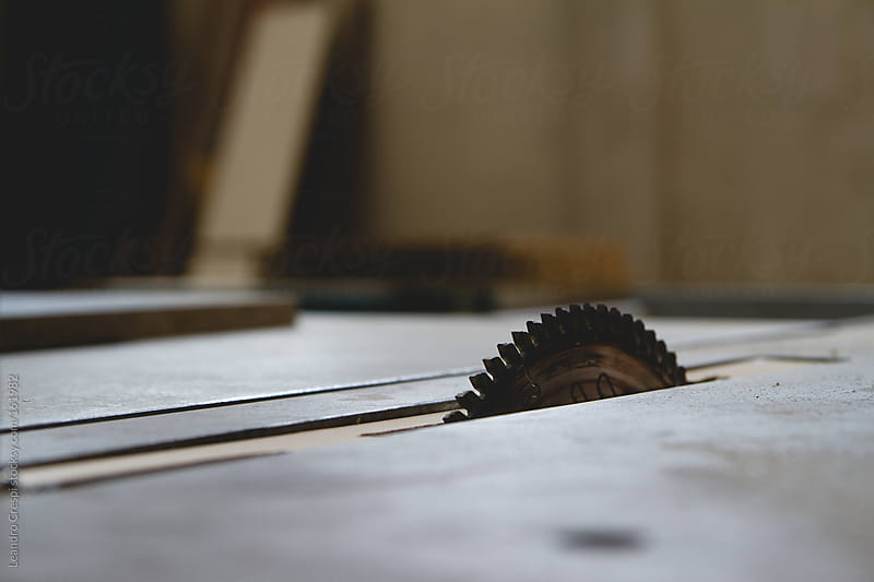 wood saw by Leandro Crespi for Stocksy United