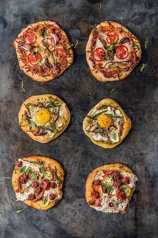 Rustic Personal-Sized Pizza by suzanne clements for Stocksy United