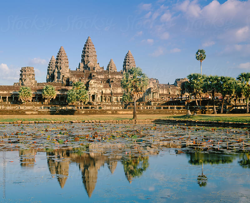 The temple of Angkor Wat, Angkor, Siem Reap, Cambodia, Asia by Gavin Hellier for Stocksy United