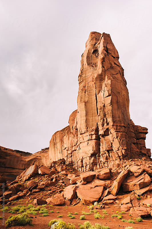 Sandstone cliffs at Monument Valley, Navajo Park, Arizona, USA by Peter Wey for Stocksy United