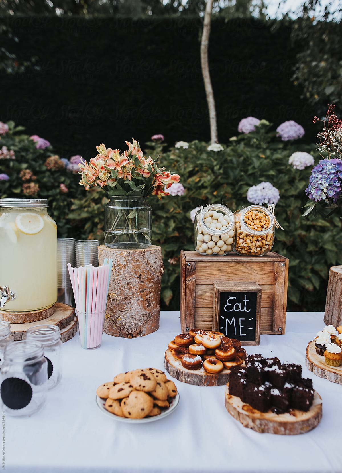 Wedding Candy Bar.Stock Photo Bohemian Wedding Candy Bar
