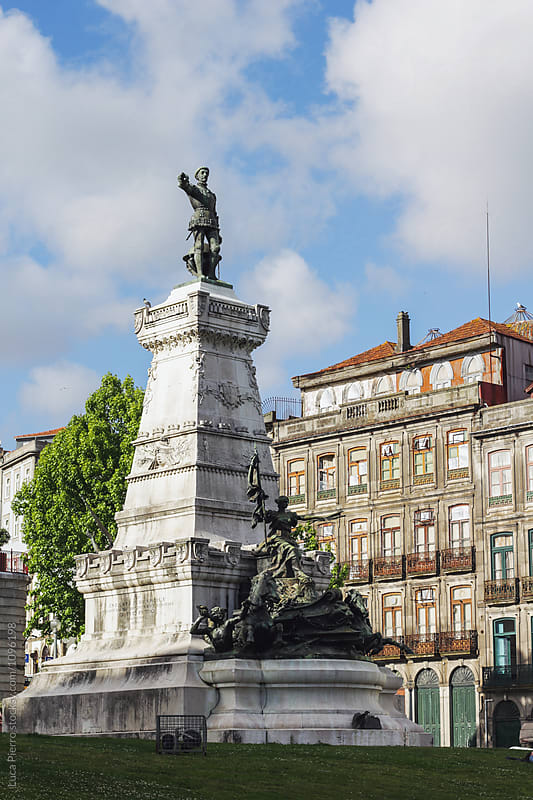 Statue of Don Pedro I in Porto, Portugal by Luca Pierro for Stocksy United