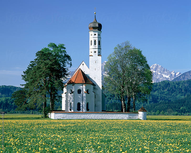 Germany, Bavaria, Oberbayern, St. Coloman Church by Gavin Hellier for Stocksy United
