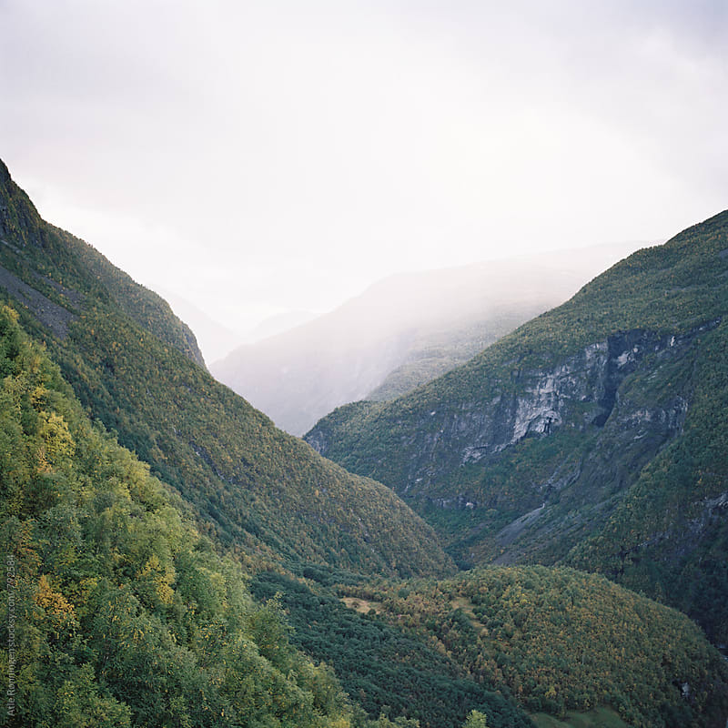 Layers of mountains in the valley of Utladalen in Norway by Atle Rønningen for Stocksy United