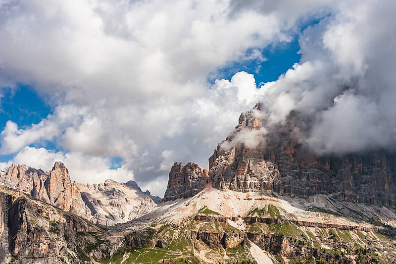 Beautiful Clouds Over Italian Dolomites, Rocky Mountains during Summer by Giorgio Magini for Stocksy United
