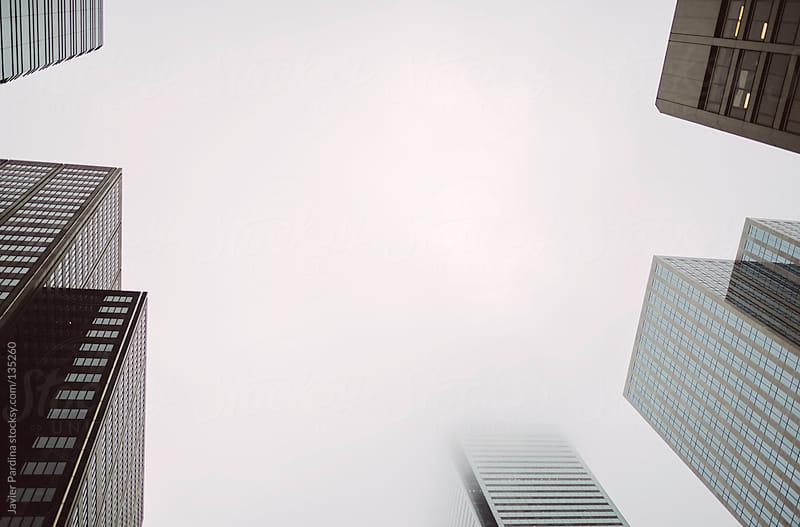 Skyscraper inside the big financial area. by Javier Pardina for Stocksy United