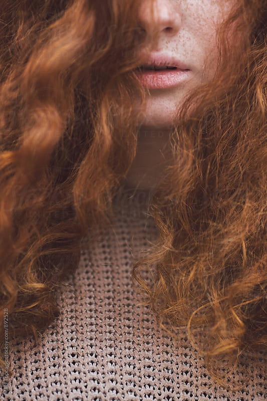 Redhead girl´s lips by Maja Topcagic for Stocksy United