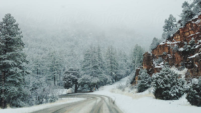 Arizona Winter Road by Kevin Russ for Stocksy United
