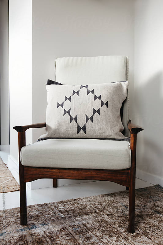 Scandi style armchair with cushion