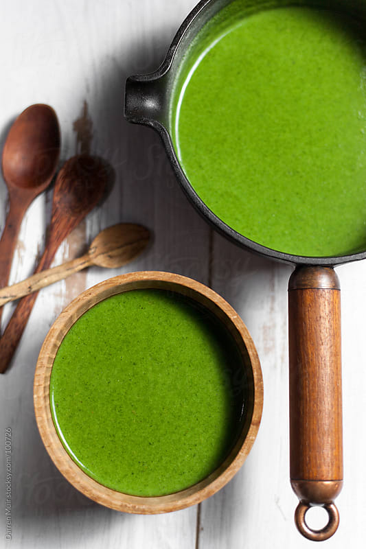 Spinach soup by Darren Muir for Stocksy United