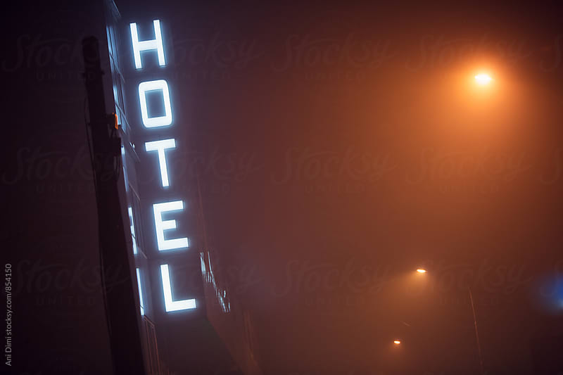 Hotel sign  by Ani Dimi for Stocksy United
