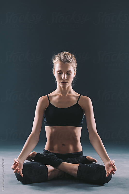 Lotus Yoga Position by Lumina for Stocksy United