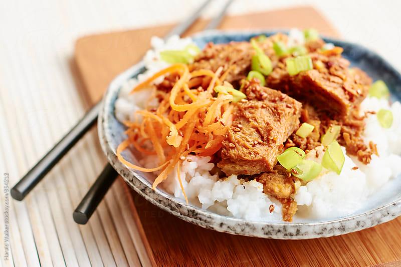 Korean Bulgogi Rice Plate (vegan version) by Harald Walker for Stocksy United