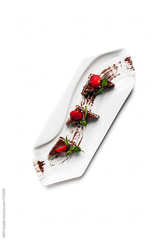 gourmet strawberry dessert by MEM Studio for Stocksy United