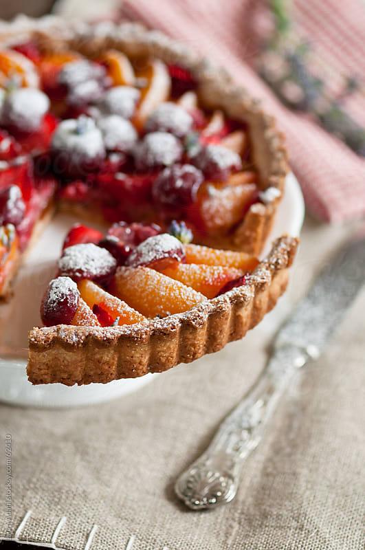 fruit tart a slice by Laura Adani for Stocksy United