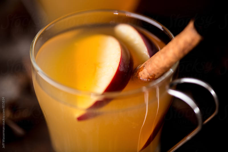 Hot Apple Cider Drink in Closeup by Jeff Wasserman for Stocksy United