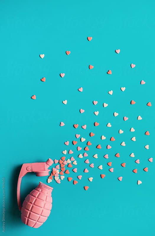 Sweet heart sprinkles explosion by Marko Milanovic for Stocksy United