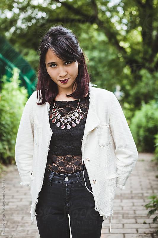 Asian Rocker Girl, Urban Attitude by Giorgio Magini for Stocksy United