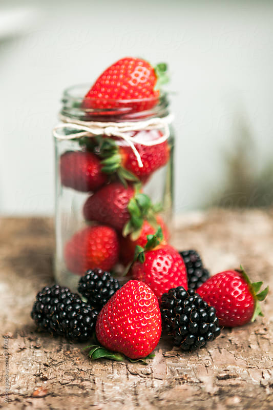 Fruit in a glass jar by Zocky for Stocksy United