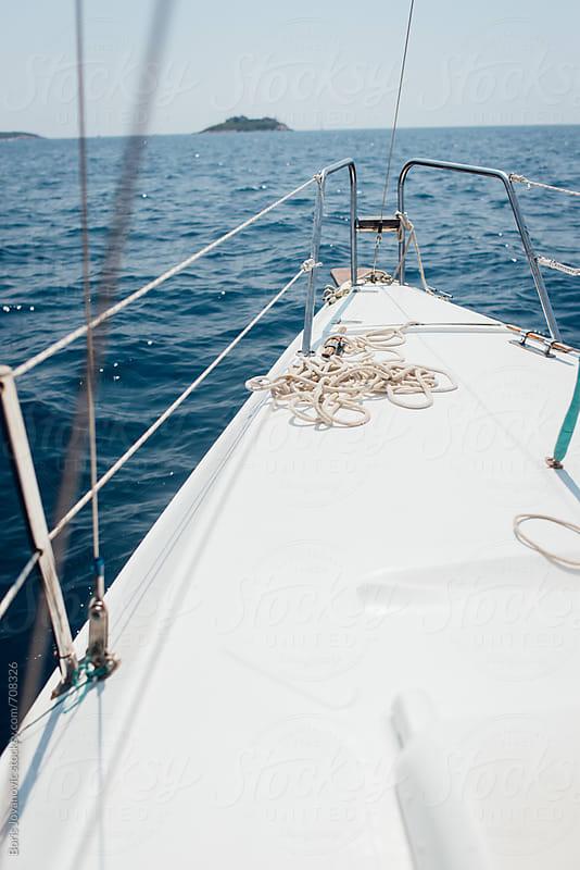 Bow of the sailboat by Boris Jovanovic for Stocksy United