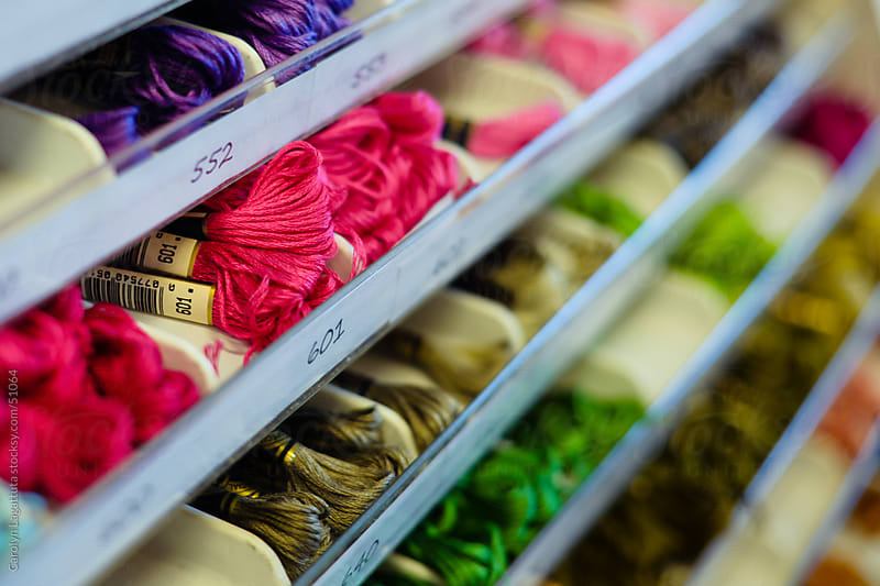 Drawers of yarn. by Carolyn Lagattuta for Stocksy United