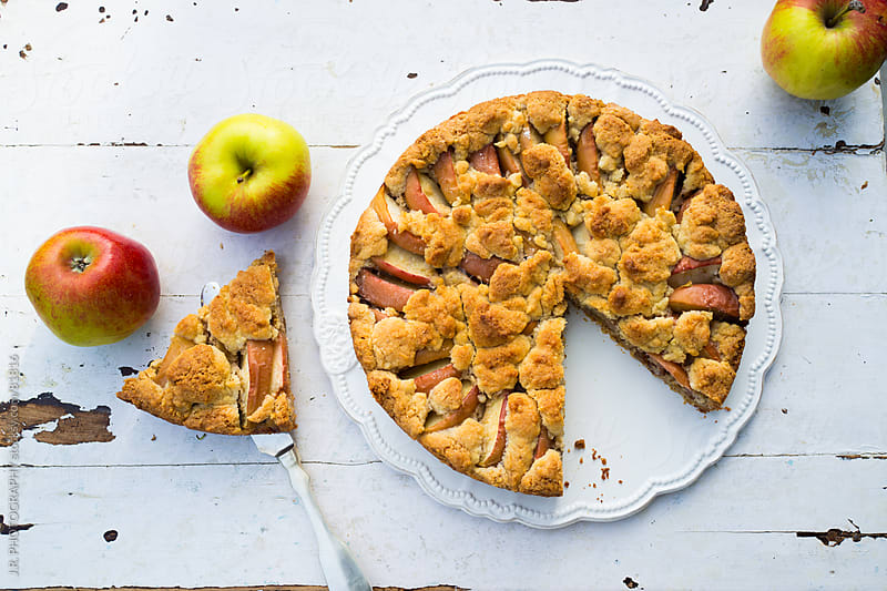 Apple cake by J.R. PHOTOGRAPHY for Stocksy United