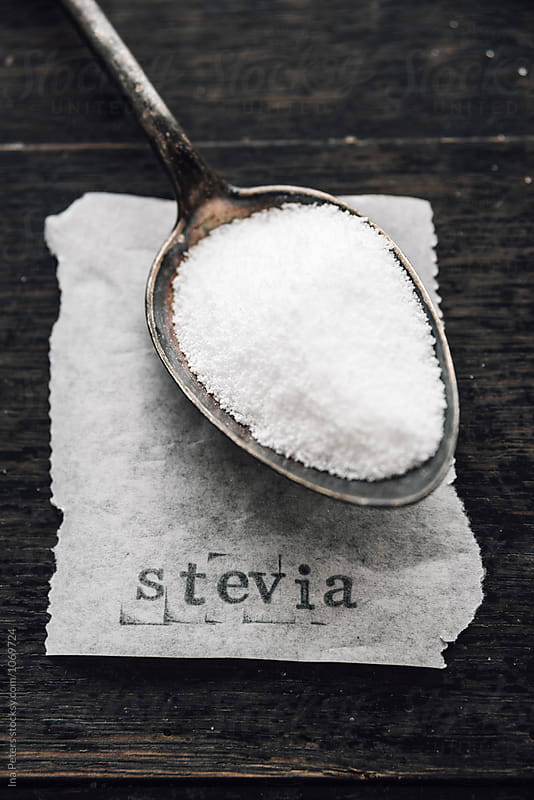 Food: Stevia sugar on a spoon by Ina Peters for Stocksy United