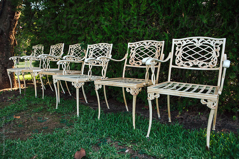 Ornate patio chairs  by kkgas for Stocksy United