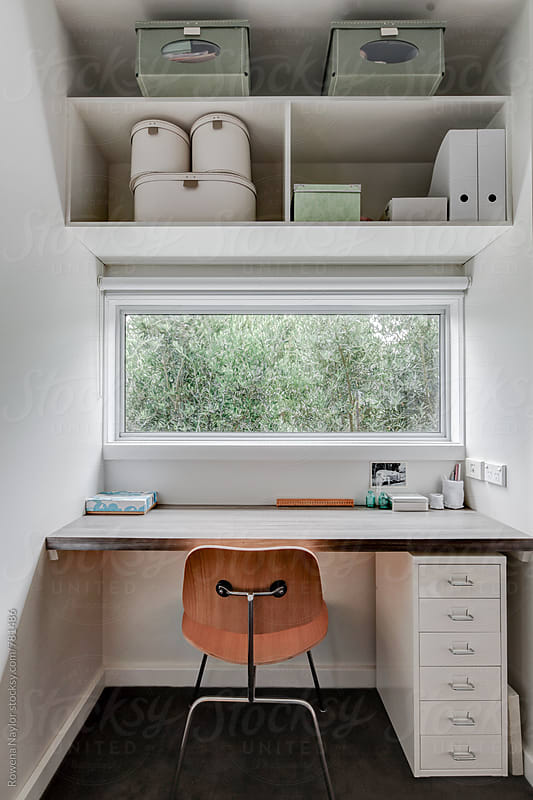 Compact Home Office Space by Rowena Naylor for Stocksy United