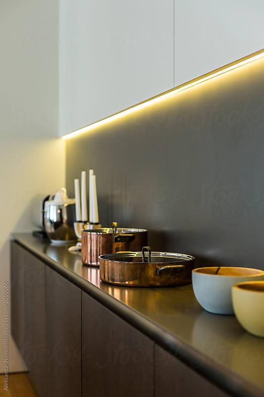 Detail shot of kitchen by Aleksandar Novoselski for Stocksy United