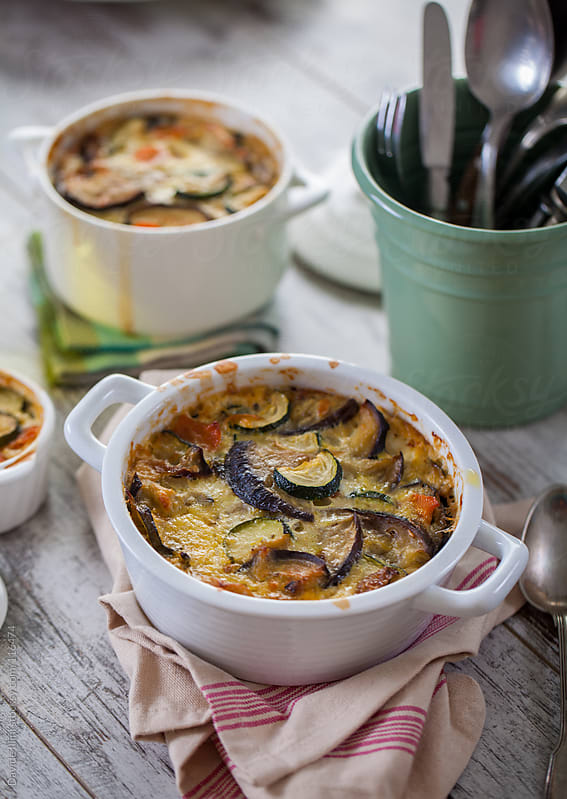 Vegetable quiche by Davide Illini for Stocksy United