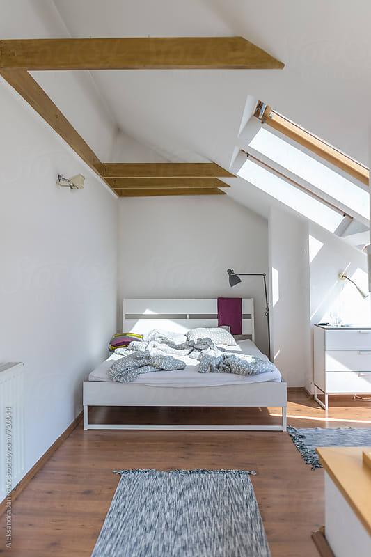 Bedroom in the Loft by Aleksandra Jankovic for Stocksy United