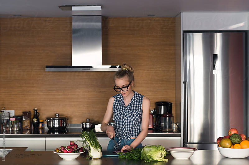 Woman Cooking by Milles Studio for Stocksy United