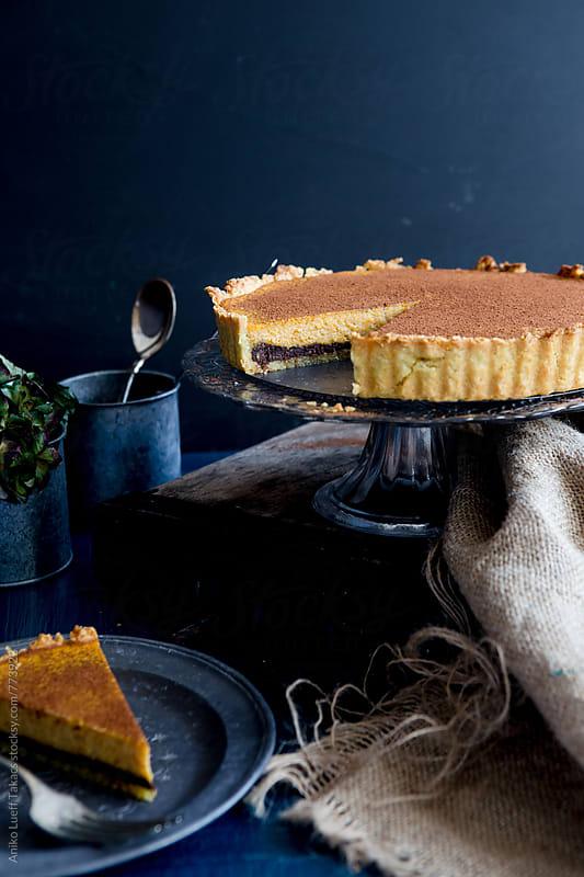 Pumpkin Chocolate Tart by Aniko Lueff Takacs for Stocksy United