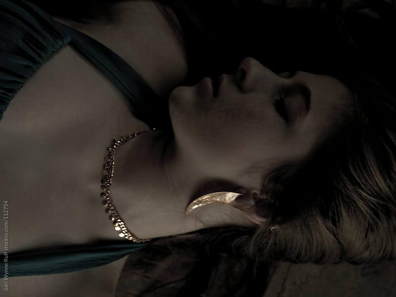Sexy Girl in Shadow on Marble Floor by Sari Wynne Ruff for Stocksy United