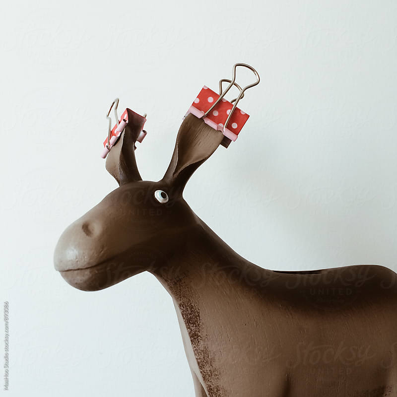 Donkey with blinder clip by MaaHoo Studio for Stocksy United