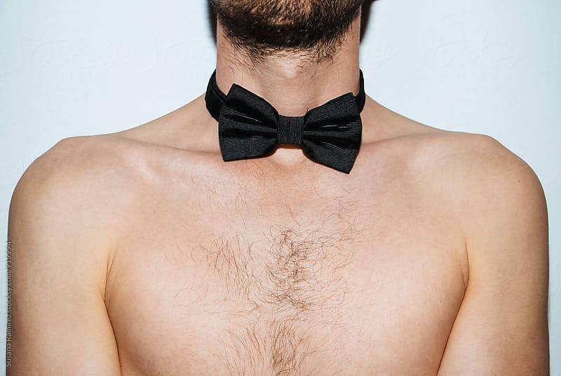 Man neck with bow tie by Susana Ramírez for Stocksy United