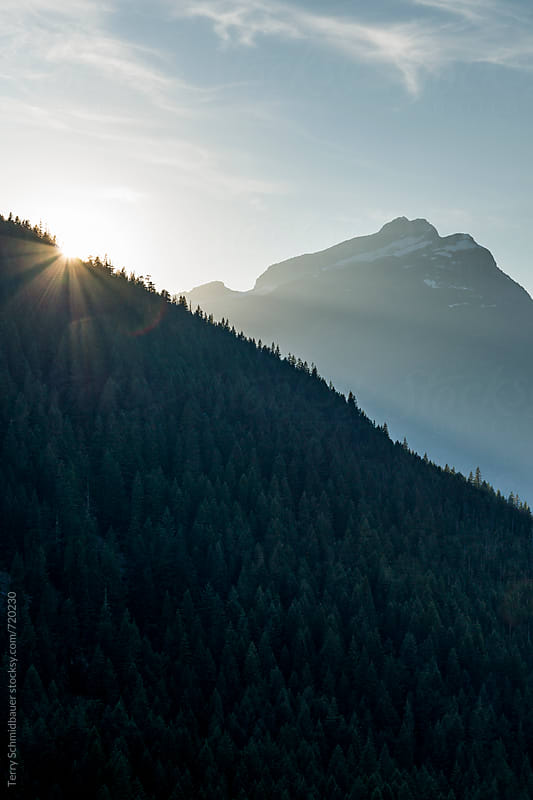 Sunset in the Mountains by Terry Schmidbauer for Stocksy United