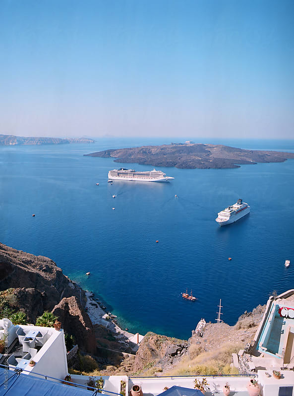 View of Santorini surroundings by Milles Studio for Stocksy United