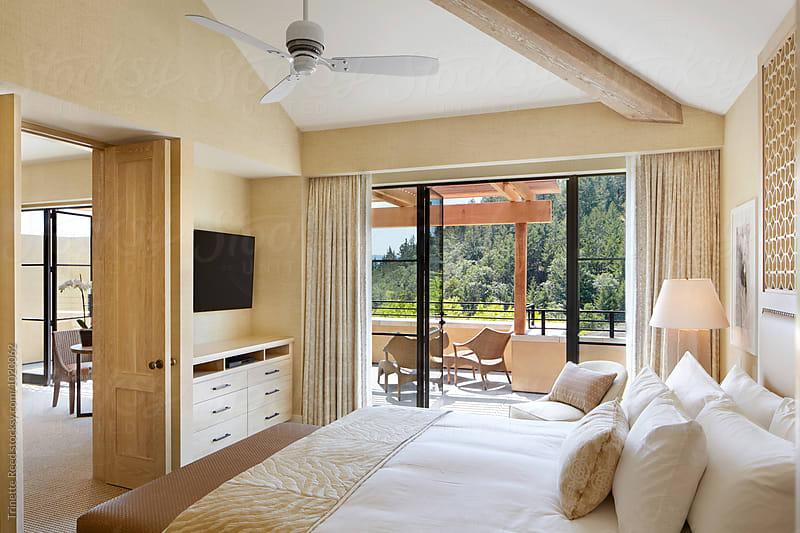 Hotel room at luxury resort