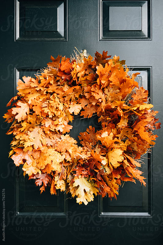 Autumn Leaf Wreath  by Austin Rogers for Stocksy United
