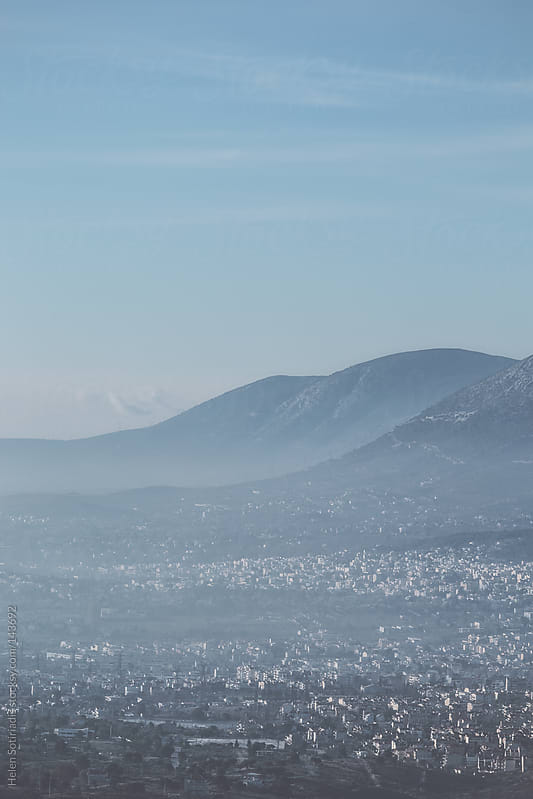 North Ymittos Mountain and Northesast Athens by Helen Sotiriadis for Stocksy United