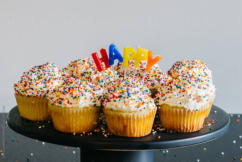 Happy Cupcakes by Jen Grantham for Stocksy United