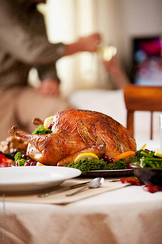 Thanksgiving: Turkey On The Thanksgiving Table by Sean Locke for Stocksy United