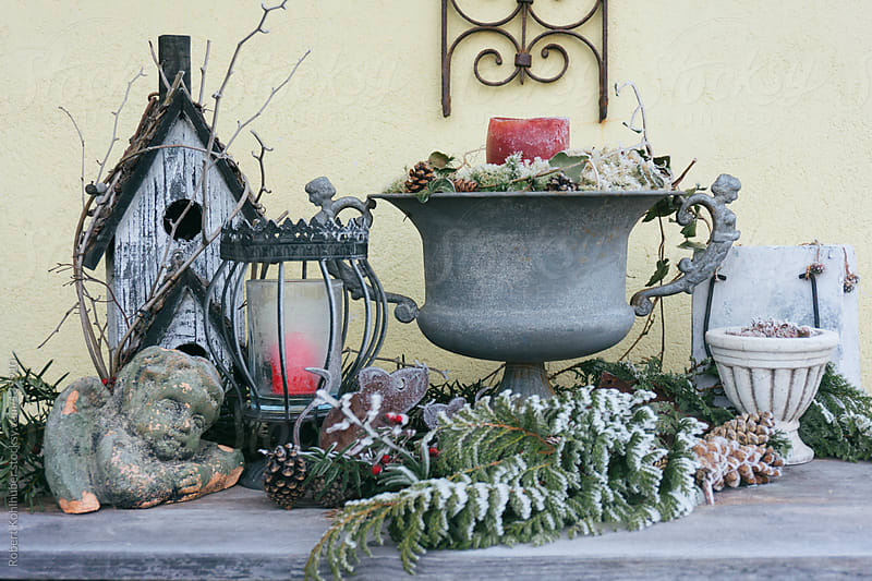 Frozen garden decoration by Robert Kohlhuber for Stocksy United