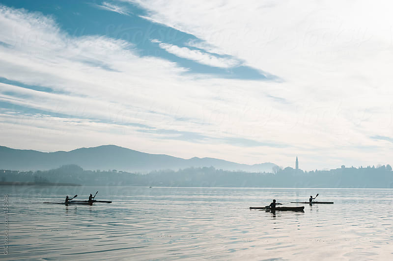 Rowboats in the lake by GIC for Stocksy United